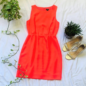 Neon Pink Fit and Flare Dress