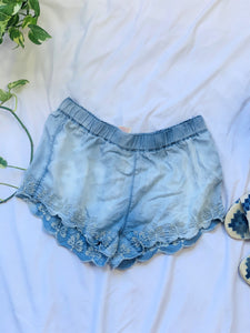 Lace Bottom Shorts