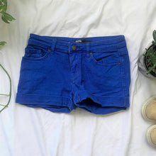 Load image into Gallery viewer, Bright Blue Shortie Shorts