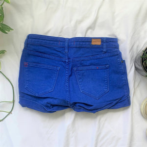 Bright Blue Shortie Shorts