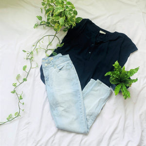 Mid-rise Ankle Skinny Light Jeans