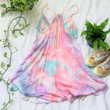 Load image into Gallery viewer, Tie Dye Cutout Swing Dress