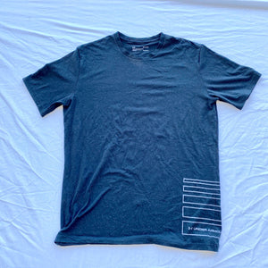 Black Underarmour Shirt With Gray Dots