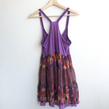 Load image into Gallery viewer, Boho Purple Floral Dress
