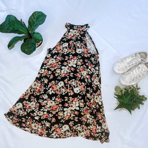 Floral Halter Swing Dress