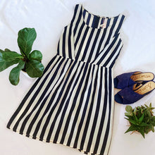 Load image into Gallery viewer, Navy Vertical Stripe Dress