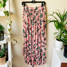Load image into Gallery viewer, Tropical Print Ruffled Maxi Skirt