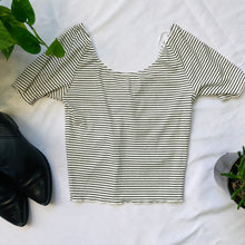 Load image into Gallery viewer, Striped Ruched Crop Top
