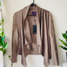 Load image into Gallery viewer, Asymmetrical Faux-Suede Jacket