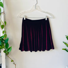 Load image into Gallery viewer, Maroon Velvet Skater Skirt