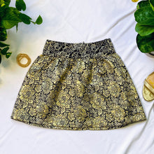 Load image into Gallery viewer, Black and Gold Brocade High Waisted Skirt