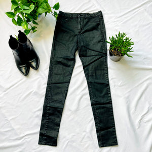 Black Shiny High Waisted Jeans