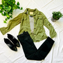 Load image into Gallery viewer, Army Green Utility Jacket (S)