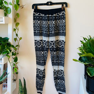 Knit Printed Joggers (M)