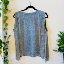 Load image into Gallery viewer, Cold Shoulder Distressed Sweatshirt (M)
