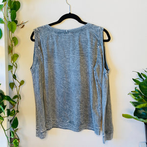 Cold Shoulder Distressed Sweatshirt (M)