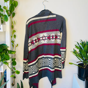 Printed Loose Fitting Cardigan