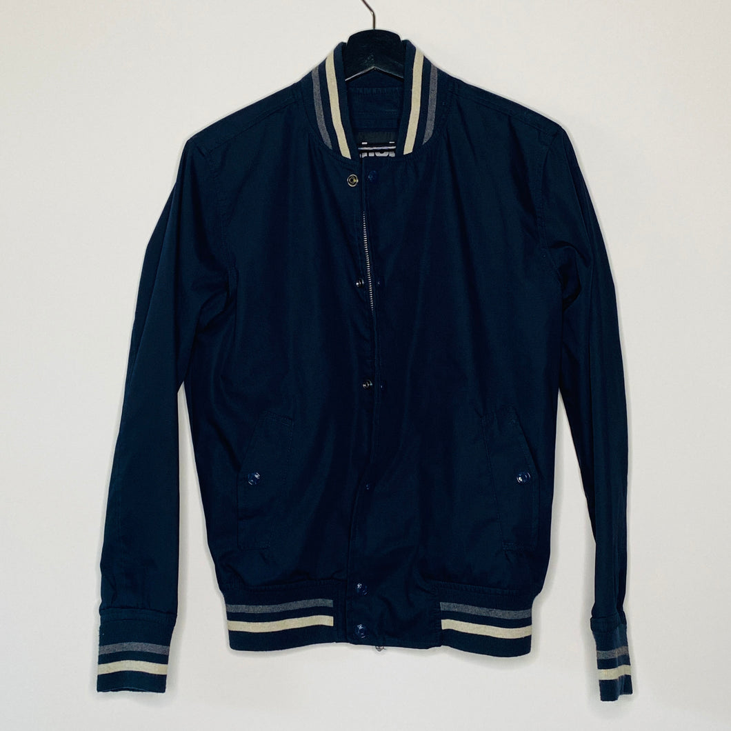 Navy Blue Cotton Bomber (S)