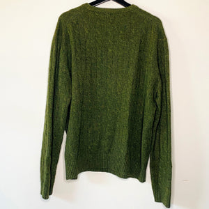 Olive Cableknit Sweater (L)