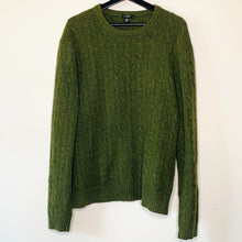 Load image into Gallery viewer, Olive Cableknit Sweater (L)