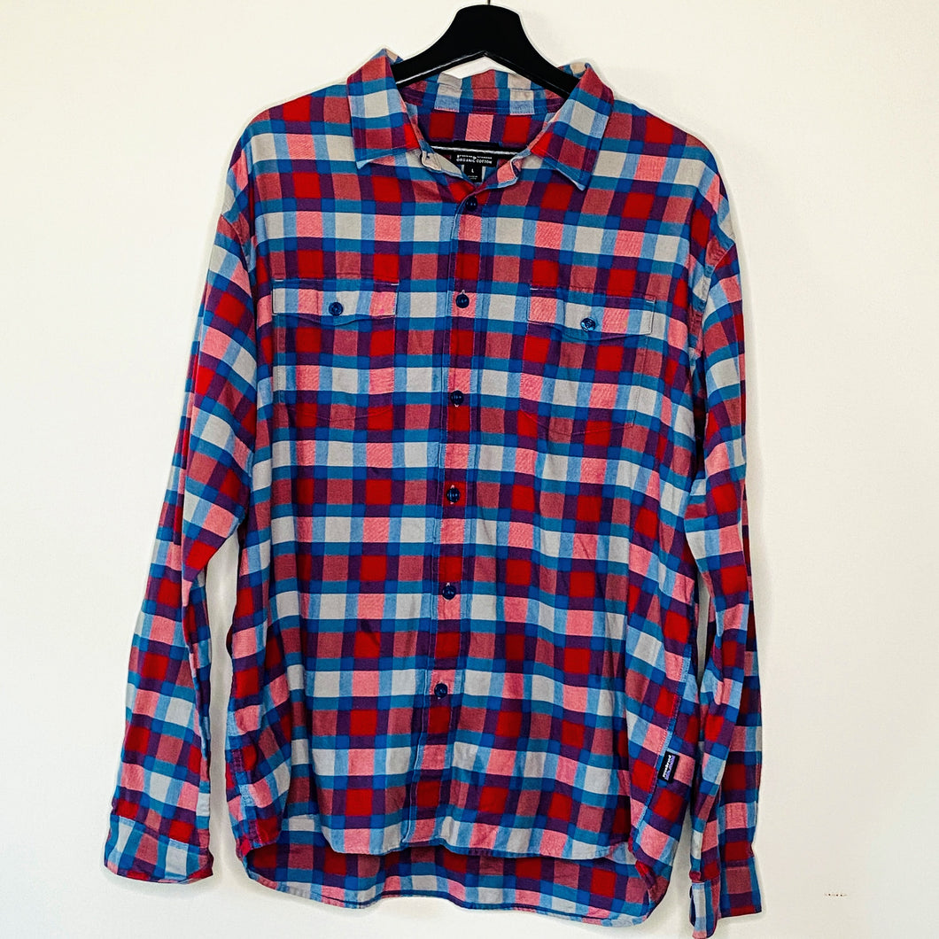 Navy and Red Flannel Shirt (L)