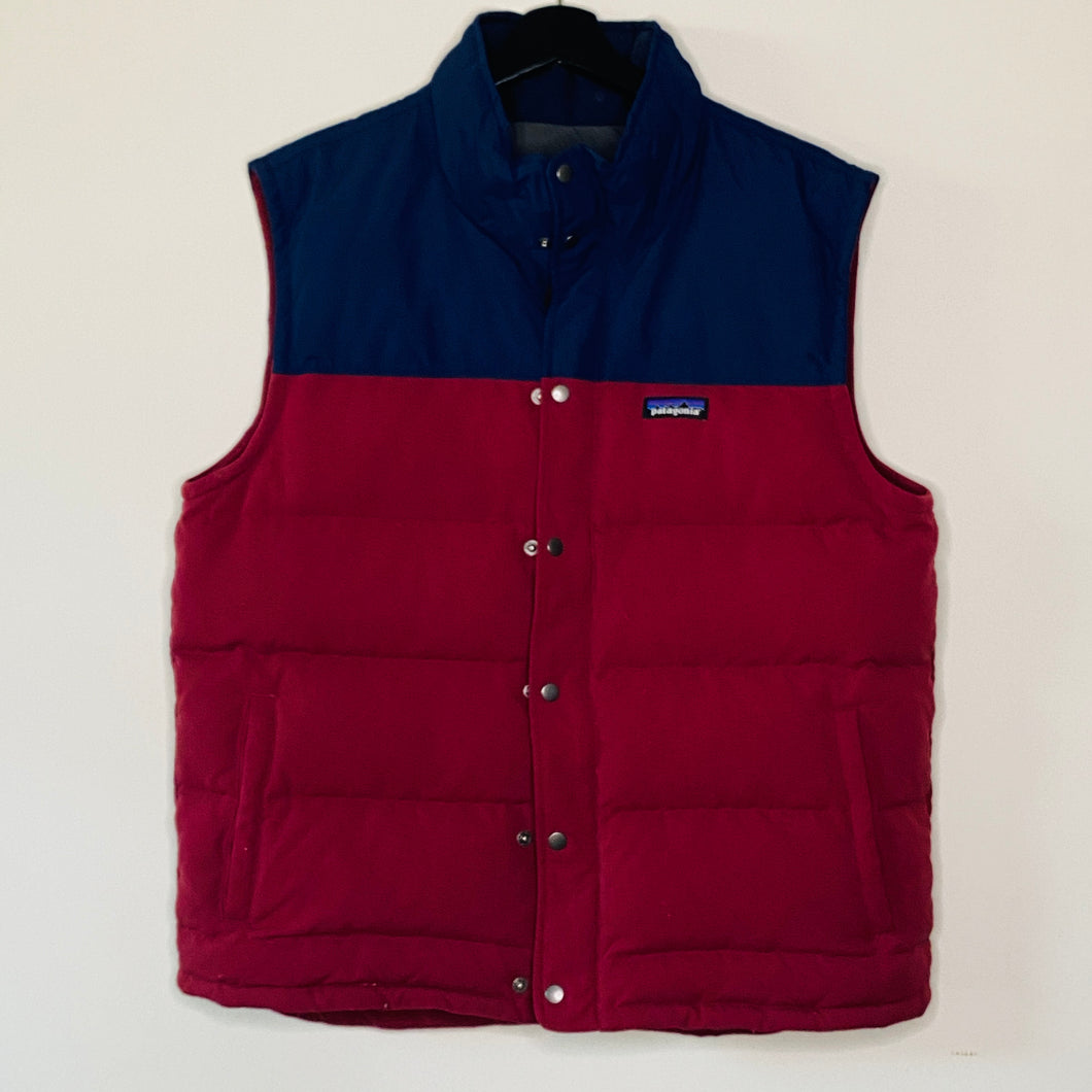 Navy and Red Puffy Vest (L)