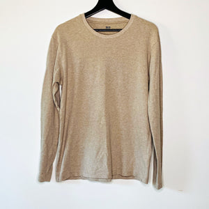 Wheat Long Sleeve Cotton Tee (L)