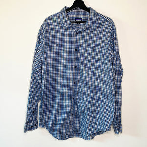 Navy Flannel Shirt (L)