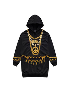 Moschino for H&M Embellished Hooded Dress (S)