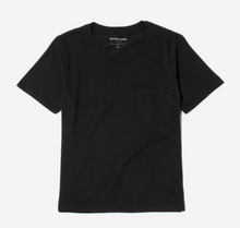 Load image into Gallery viewer, Black Box-Cut Pocket Tee