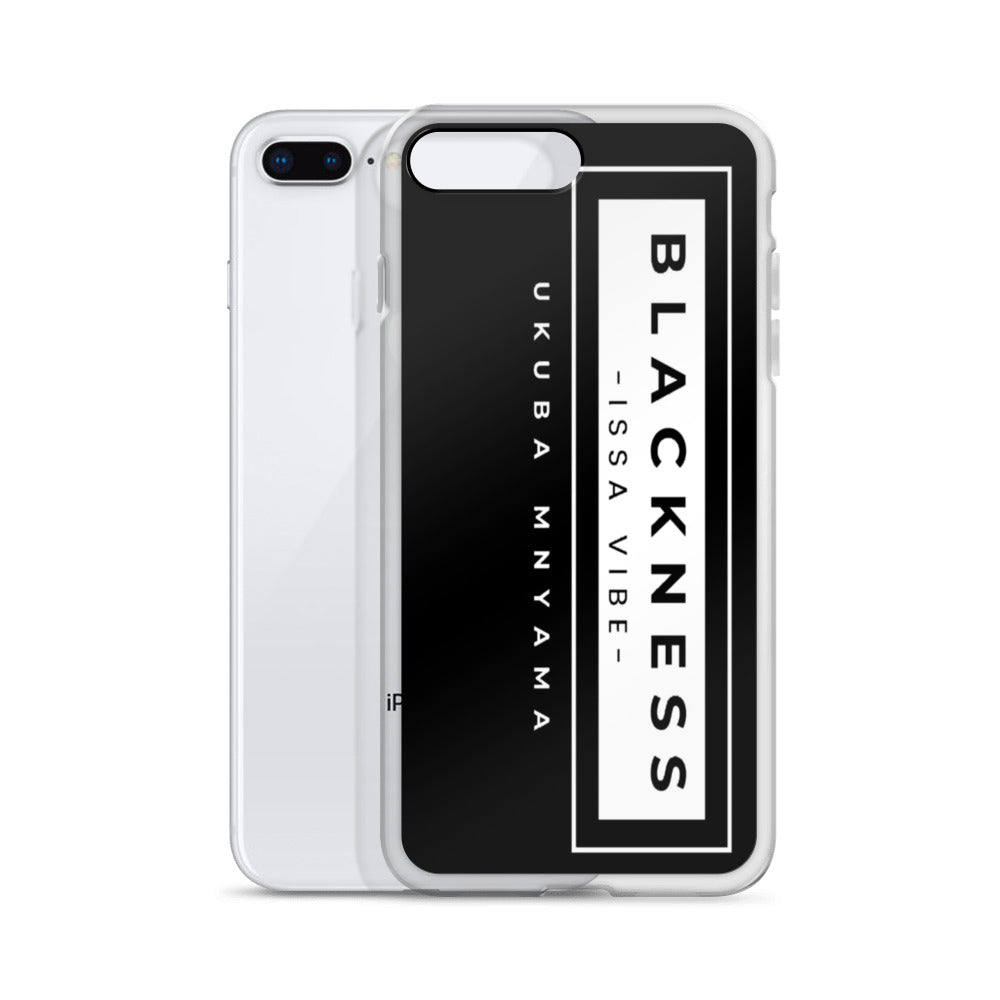 Black Color 'Blackness issa Vibe' iPhone Case