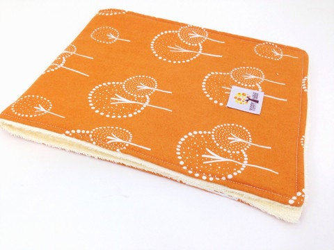 Burp Cloths - Orange Trees