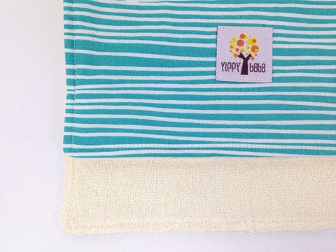 Burp Cloths - Emerald Stripes