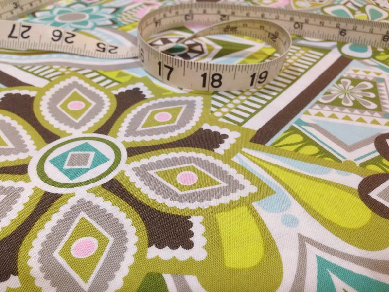 1 yard Fabric Green Picnic
