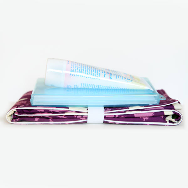 Full Body Changing Pad - Orchid Birds