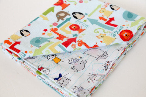 Stroller Blanket - Zoo and Monster Friends