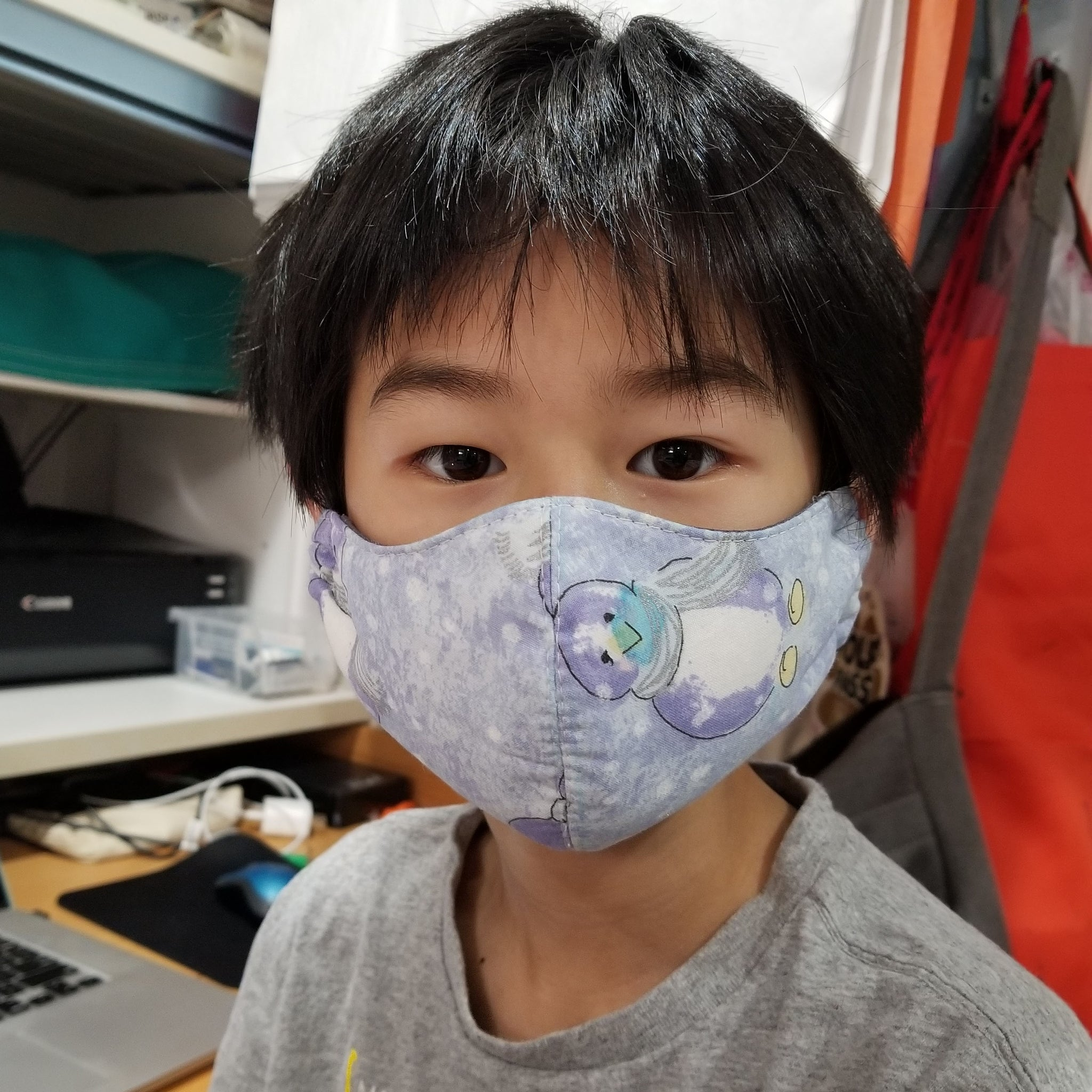 Handmade Masks with elastic - Youth Small