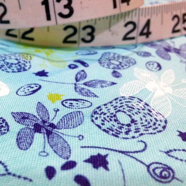Yippy BeBe NJ fabric store Free Spirit Botanica Sketch Earthbright by Felicity Miller - 1 yard close up