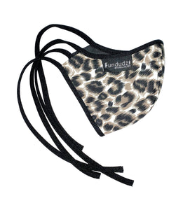 Leopard print cloth face mask