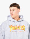 Thrasher Flame Logo Pullover Hoodie - Heather Grey