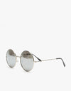 Route One Round Sunglasses - Silver