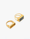 HUF Circle H Stash Ring - Gold