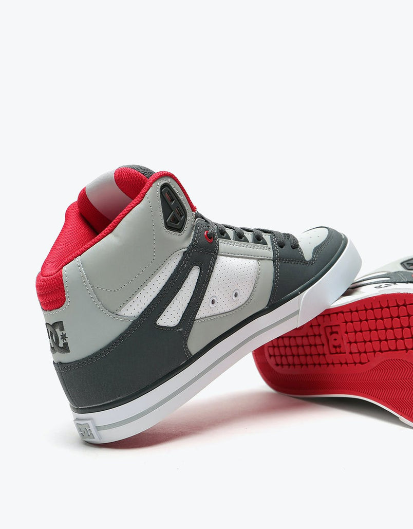 DC Pure High-Top WC Skate Shoes - Grey