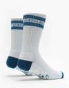 Blast Roller Surfer Socks - White/Navy