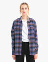 Patagonia Womens Long-Sleeved Fjord Flannel Shirt - Pistol: Hyssop Purple