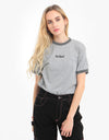 Kickers® Womens S/S T-Shirt - Grey Marl