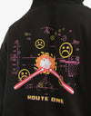 Route One Game Over Pullover Hoodie - Black
