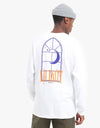 Route One La Nuit Long Sleeve T-Shirt - White