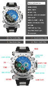 Stryve S8015 LED Digital 5ATM Diving Watch - Virtual Contact