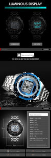 SKMEI Solar Led Digital Quartz Men's Watch - Virtual Contact